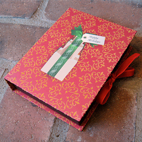 Flocked holiday boxed notes set