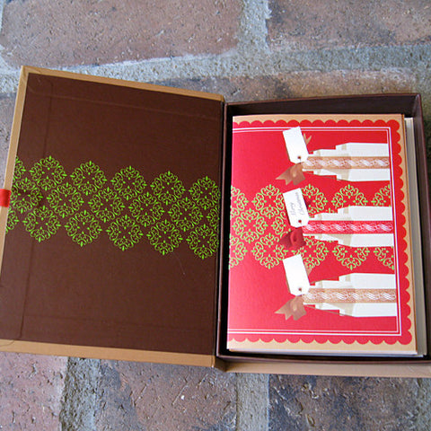 Christmas card box set design