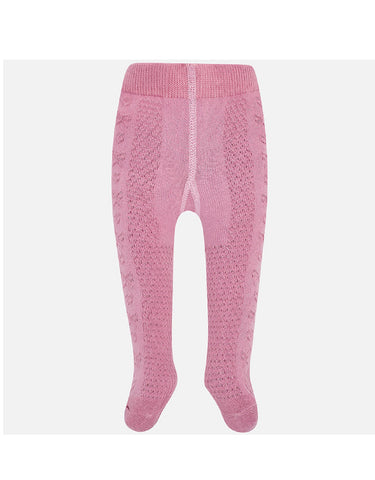 mayoral Plain Pink Tights