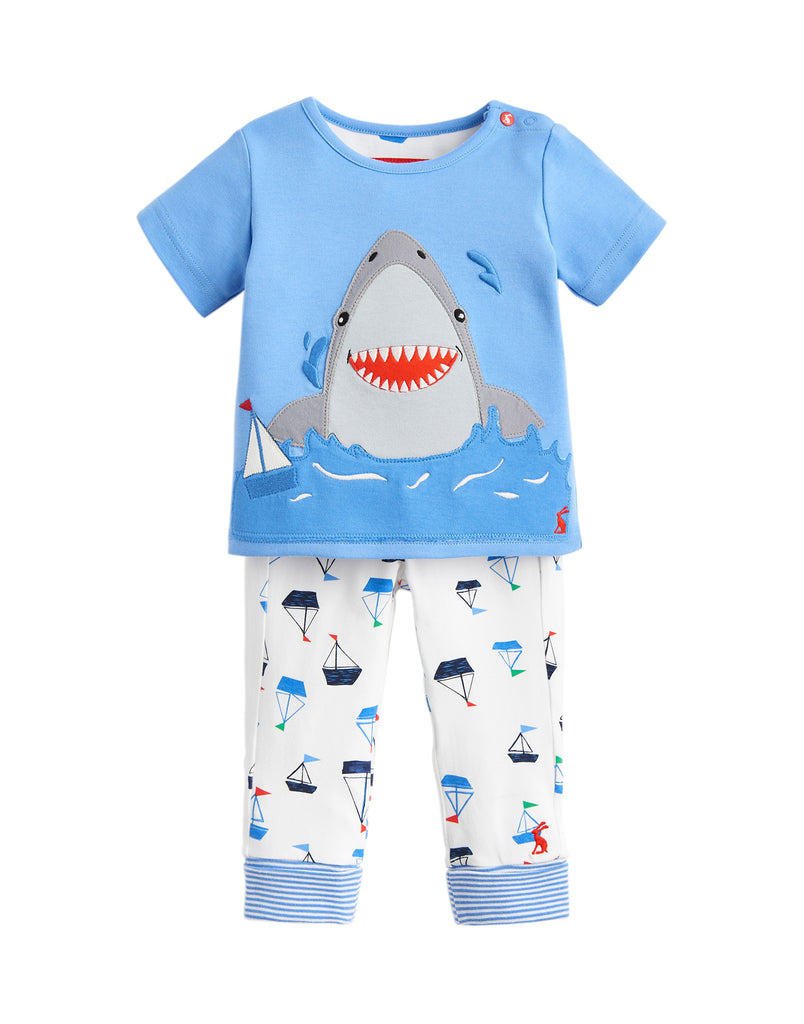 Joules Baby Doodle Blue White Shark