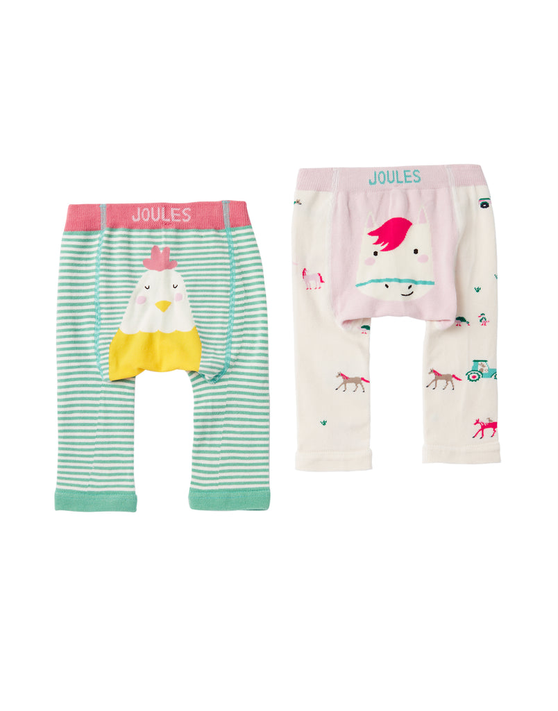 Joules Baby Lively Leggings 2 Pack Horse/Chick