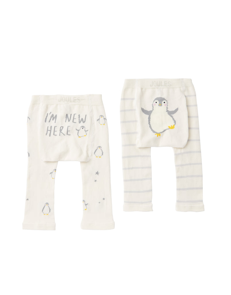 Joules Baby Lively Leggings 2 Pack Penguin