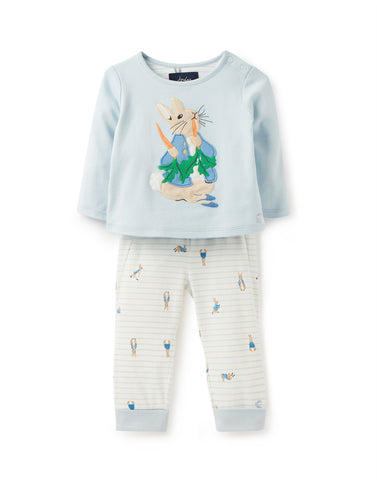 Joules Byron Top and Leggings Set Blue Peter Rabbit