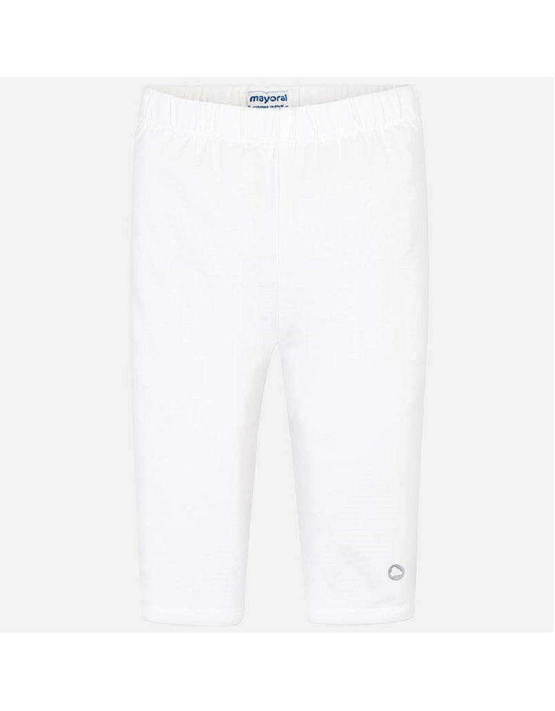 Mayoral White Cropped Leggings