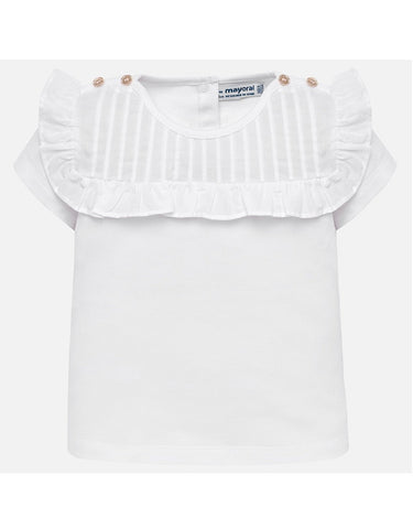 Mayoral White Short Sleeve T Shirt