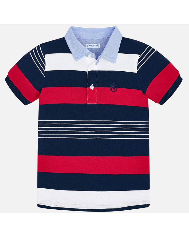 Mayoral Red Stripe Polo
