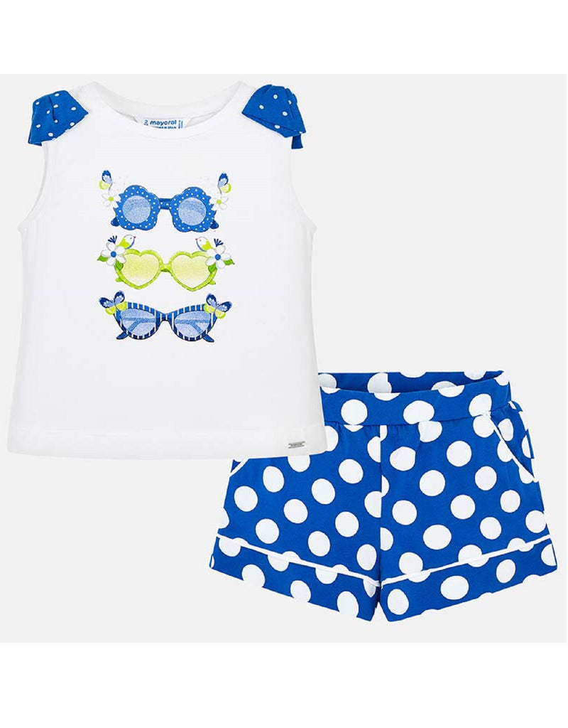 Mayoral Polka Dot Shorts and T-Shirt Set