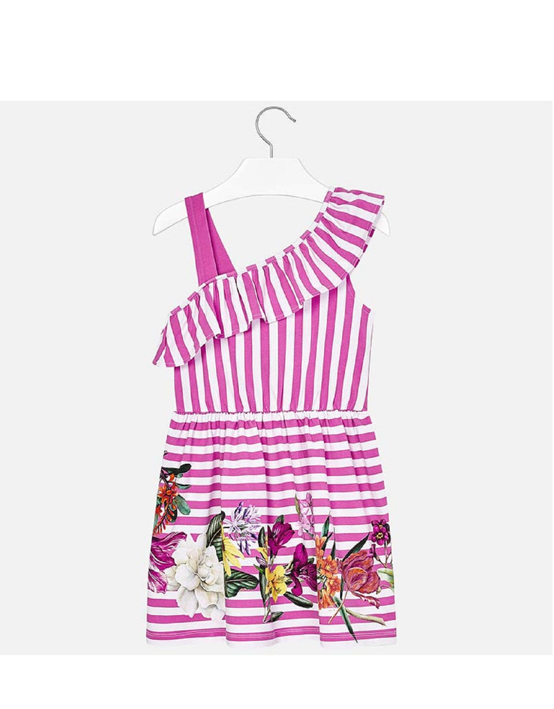 Mayoral Dress Pink Striped