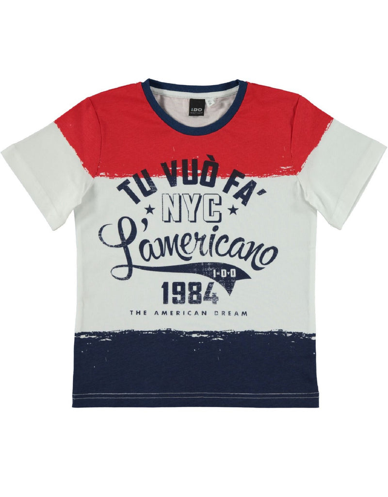 I Do Boys White and Red T Shirt