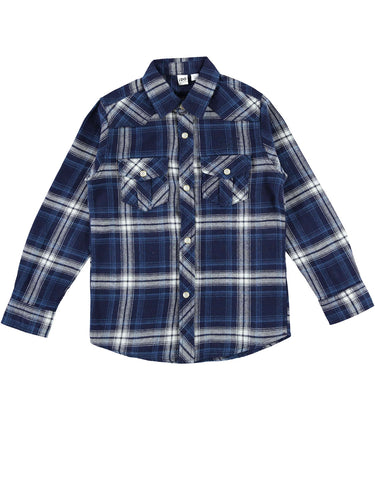 I Do Navy Check Shirt