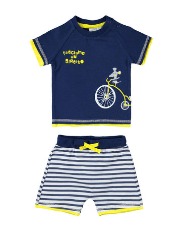 I Do Navy Short Sleeve Set