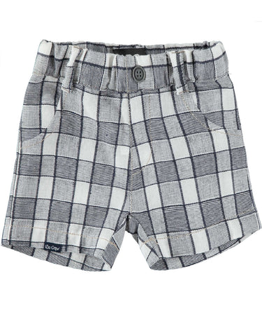 I Do Woven Check Shorts