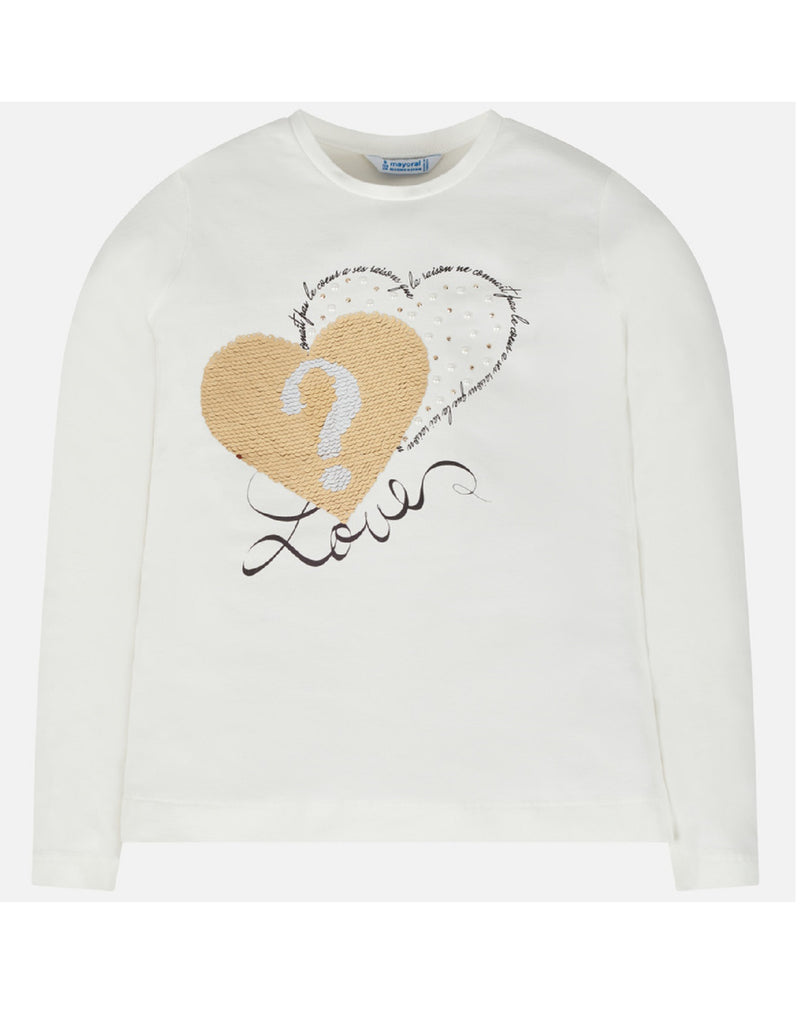 Mayoral Hearts Long Sleeve T-Shirt