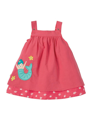 Frugi Rosemary Reversible Dress Coral