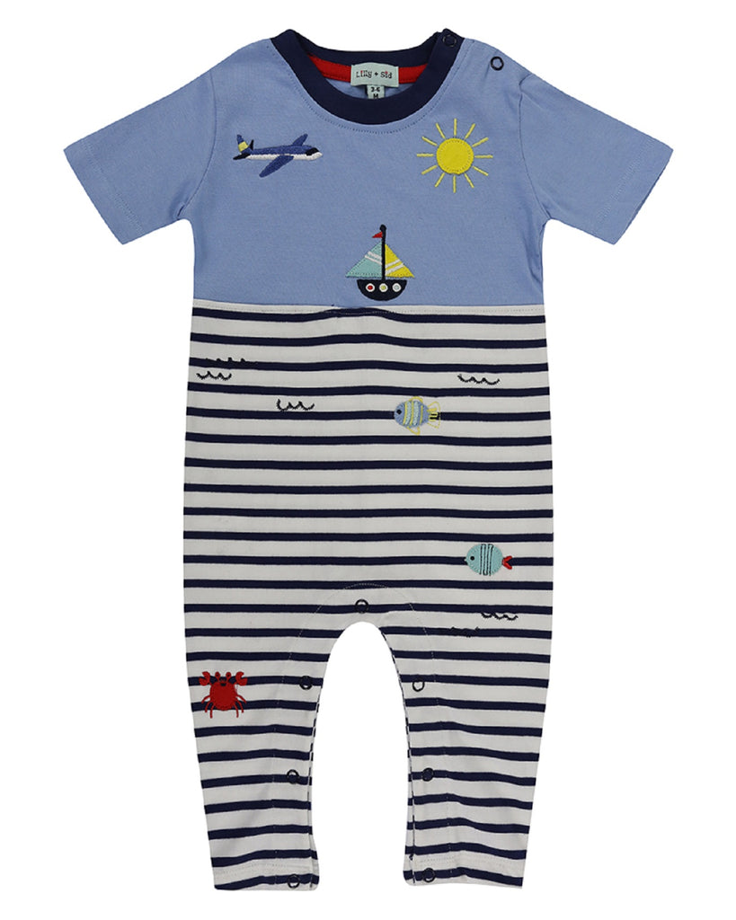 Lilly & Sid Beach Trip Adventure Playsuit