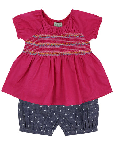 Lilly & Sid Chambray Bloomer and Tunic Set