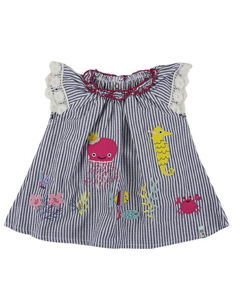 Lilly & Sid Stripe Applique Dress