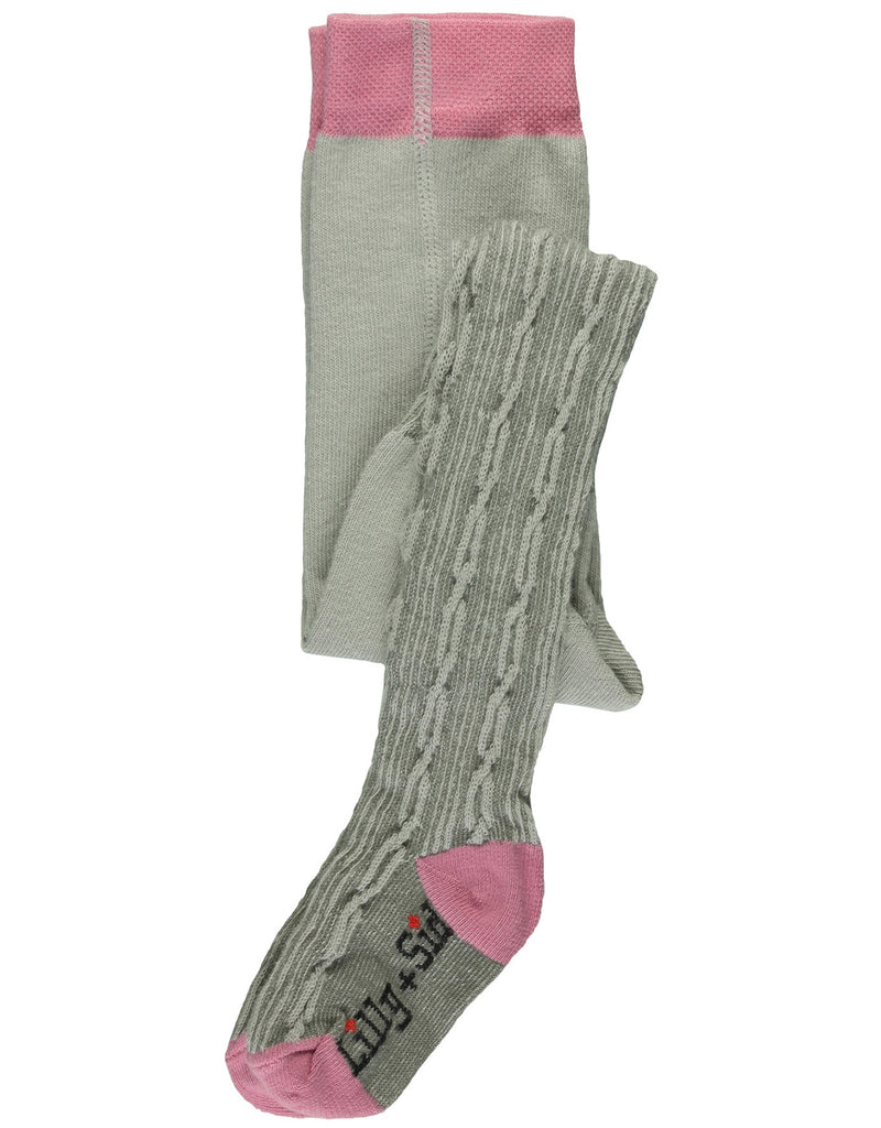 Lilly & Sid Baby Cable Grey Tights