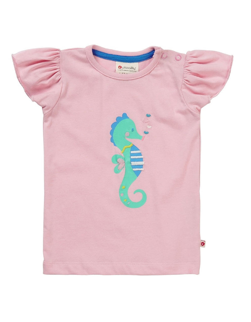 Piccalilly Baby Girls Seahorse T-shirt