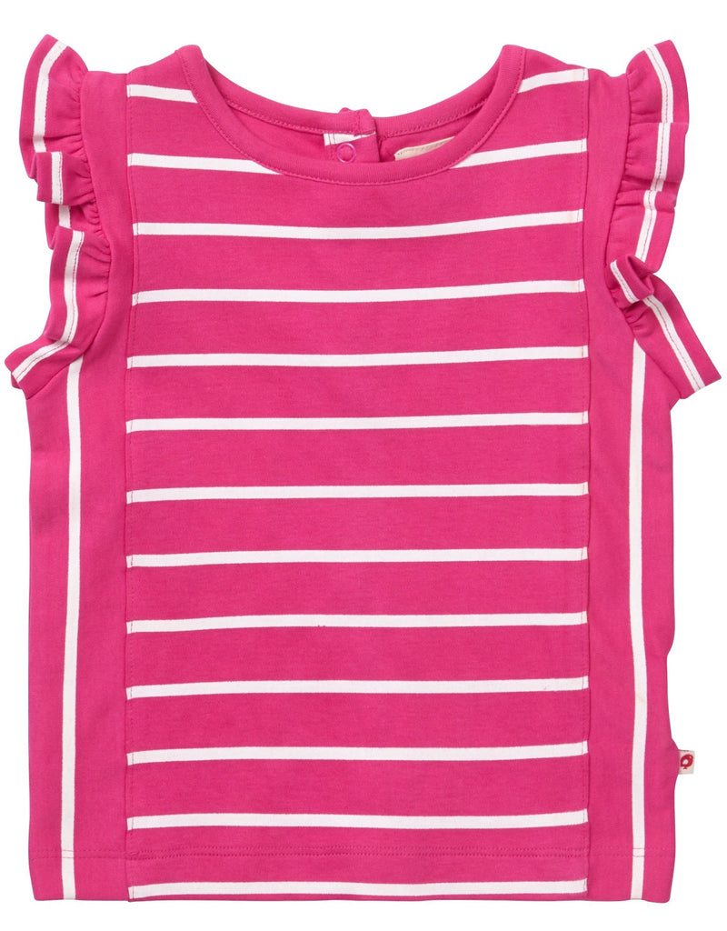 Piccalilly Pink Ruffle Vest
