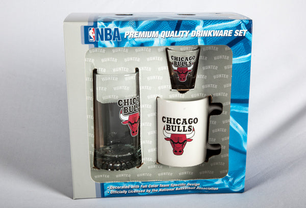 Chicago Bulls 3 Peice Drink Fan Set