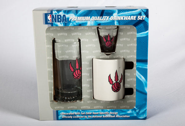 Toronto Raptors 3 Piece Drink Fan Set