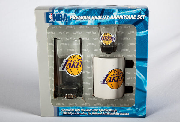 Los Angeles Lakers 3 Peice Drink Fan Set