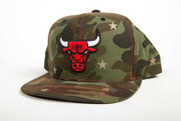 Chicago Bulls Green Camo Star Snapback