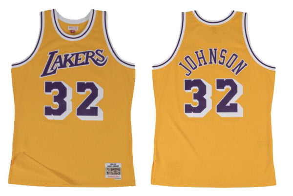 LA Lakers #32 Johnson Swingman Jersey