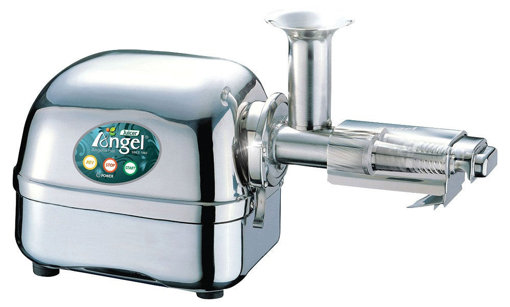 Angel Juicer AG-7500 STAINLESS STEEL JUICING POWER! with (FREE STAINLESS STEEL JUICE BOWL)