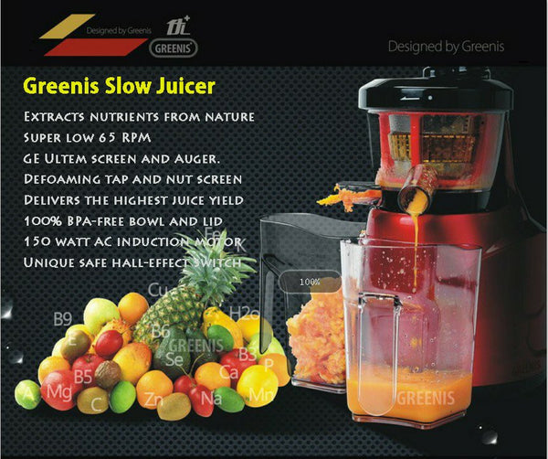 GREENIS, JUICE ALL MULTI vERT JUICER 9008 Smoothie Maker, Nut Grinder, Juicers4life