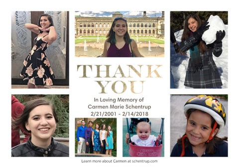 Thank you photo montage