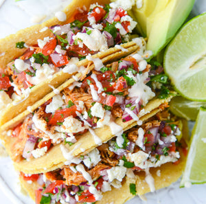 Quick Shredded Chicken Tacos