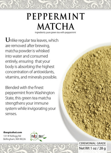 Peppermint Matcha - 1 oz., Matcha - Spice Hut