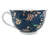 Large Blue Floral Mug with cute birds and Butterflies