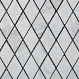 "Carrara White Marble Honed 1"" Diamond Mosaic Tile - American Tile Depot - Commercial and Residential (Interior & Exterior), Indoor, Outdoor, Shower, Backsplash, Bathroom, Kitchen, Deck & Patio, Decorative, Floor, Wall, Ceiling, Powder Room - 2"