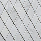 "Carrara White Marble Honed 1"" Diamond Mosaic Tile - American Tile Depot - Commercial and Residential (Interior & Exterior), Indoor, Outdoor, Shower, Backsplash, Bathroom, Kitchen, Deck & Patio, Decorative, Floor, Wall, Ceiling, Powder Room - 3"