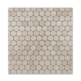 "Crema Marfil Marble Polished 2"" Hexagon Mosaic Tile - American Tile Depot - Commercial and Residential (Interior & Exterior), Indoor, Outdoor, Shower, Backsplash, Bathroom, Kitchen, Deck & Patio, Decorative, Floor, Wall, Ceiling, Powder Room - 4"