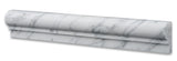 Carrara White Marble Honed OG-1 Chair Rail Molding Trim - American Tile Depot - Commercial and Residential (Interior & Exterior), Indoor, Outdoor, Shower, Backsplash, Bathroom, Kitchen, Deck & Patio, Decorative, Floor, Wall, Ceiling, Powder Room - 3