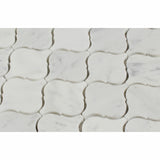 Carrara White Marble Honed Lantern Arabesque Mosaic Tile - American Tile Depot - Commercial and Residential (Interior & Exterior), Indoor, Outdoor, Shower, Backsplash, Bathroom, Kitchen, Deck & Patio, Decorative, Floor, Wall, Ceiling, Powder Room - 2