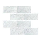 12 X 24 Carrara White Marble Honed Field Tile - American Tile Depot - Shower, Backsplash, Bathroom, Kitchen, Deck & Patio, Decorative, Floor, Wall, Ceiling, Powder Room, Indoor, Outdoor, Commercial, Residential, Interior, Exterior