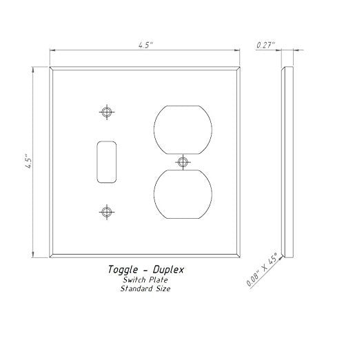 Italian Carrara White Marble Toggle Duplex Switch Wall
