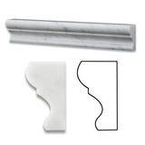 Carrara White Marble Honed Crown - Mercer Molding Trim - American Tile Depot - Commercial and Residential (Interior & Exterior), Indoor, Outdoor, Shower, Backsplash, Bathroom, Kitchen, Deck & Patio, Decorative, Floor, Wall, Ceiling, Powder Room - 1