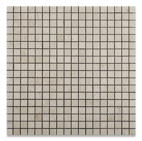 5/8 X 5/8 Crema Marfil Marble Honed Mosaic Tile - American Tile Depot - Commercial and Residential (Interior & Exterior), Indoor, Outdoor, Shower, Backsplash, Bathroom, Kitchen, Deck & Patio, Decorative, Floor, Wall, Ceiling, Powder Room - 1