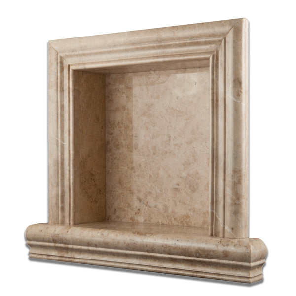 Cappuccino Marble Hand Made Custom Shampoo Niche Shelf