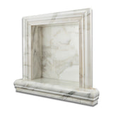 Calacatta Gold Marble Hand-Made Custom Shampoo Niche / Shelf - SMALL - Polished - American Tile Depot - Commercial and Residential (Interior & Exterior), Indoor, Outdoor, Shower, Backsplash, Bathroom, Kitchen, Deck & Patio, Decorative, Floor, Wall, Ceiling, Powder Room - 1