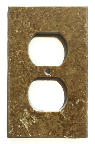 Noce Travertine Single Duplex Switch Wall Plate / Switch Plate / Cover - Honed - American Tile Depot - Commercial and Residential (Interior & Exterior), Indoor, Outdoor, Shower, Backsplash, Bathroom, Kitchen, Deck & Patio, Decorative, Floor, Wall, Ceiling, Powder Room - 1