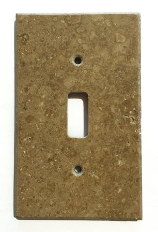 Noce Travertine Single Toggle Switch Wall Plate / Switch Plate / Cover - Honed - American Tile Depot - Commercial and Residential (Interior & Exterior), Indoor, Outdoor, Shower, Backsplash, Bathroom, Kitchen, Deck & Patio, Decorative, Floor, Wall, Ceiling, Powder Room - 1