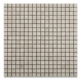 5/8 X 5/8 Crema Marfil Marble Polished Mosaic Tile - American Tile Depot - Commercial and Residential (Interior & Exterior), Indoor, Outdoor, Shower, Backsplash, Bathroom, Kitchen, Deck & Patio, Decorative, Floor, Wall, Ceiling, Powder Room - 1