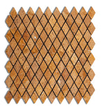 "Gold / Yellow Travertine 1"" Diamond Tumbled Mosaic Tile - American Tile Depot - Commercial and Residential (Interior & Exterior), Indoor, Outdoor, Shower, Backsplash, Bathroom, Kitchen, Deck & Patio, Decorative, Floor, Wall, Ceiling, Powder Room - 1"